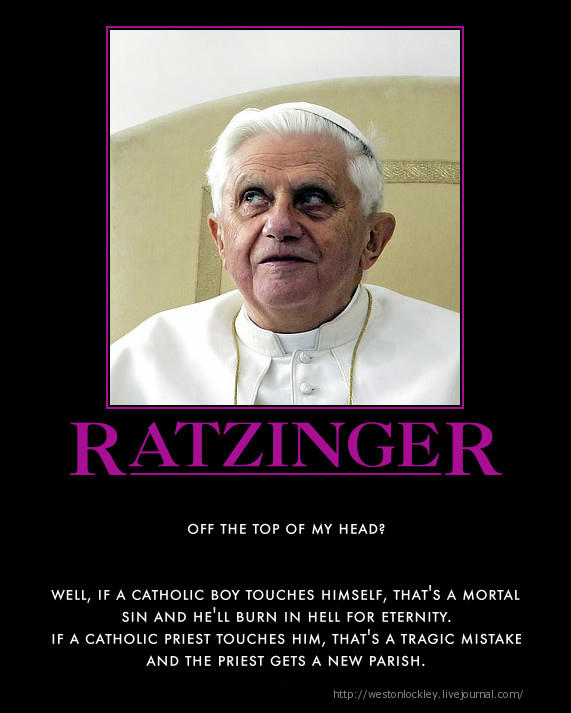 Joseph Ratzinger alias Benedict XVI, the Hypocrite
